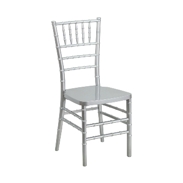 Silver Resin Chiavari Stacking Chair
