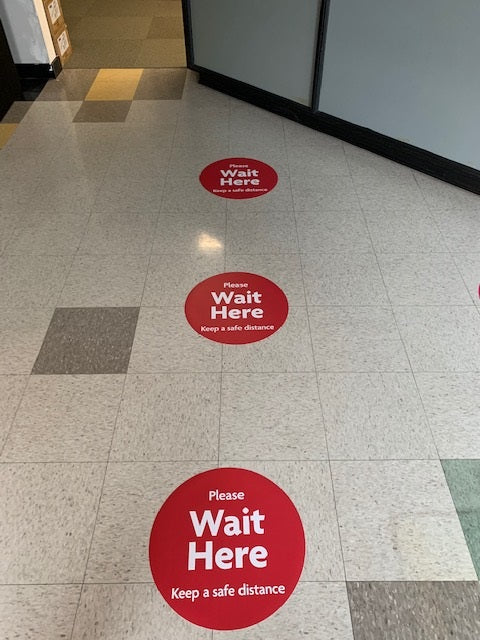 Social Distancing Floor Decal Wait Here Sticker Tape Anti Slip Commercial Grade Vinyl