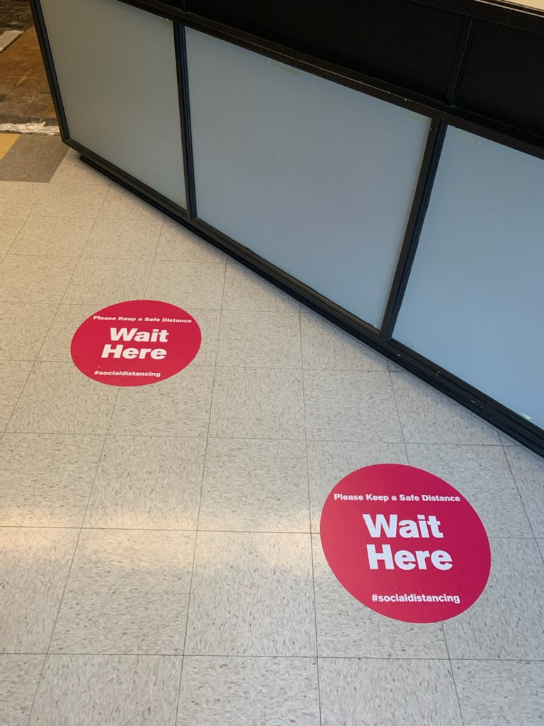 Outdoor Social Distancing Floor Decal Anti Slip Commercial Grade
