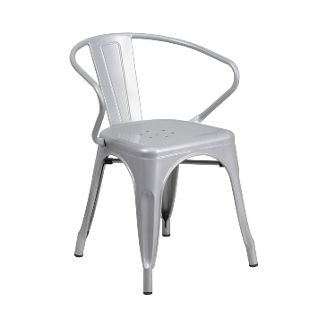 Sonic Silver Finish Tolix Arm Chair
