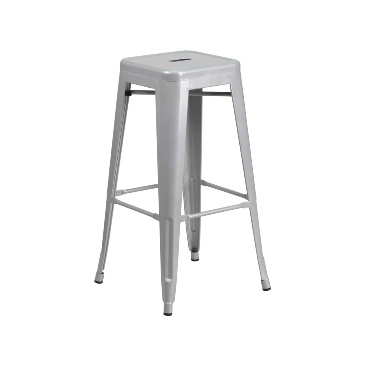 Sonic Silver Finish Tolix Bar Stool