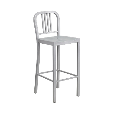 KÄli Sonic Silver Industrial Low Back Bar Stool