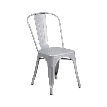 Sonic Silver Finish Tolix Chair