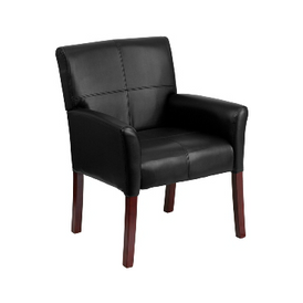 Square Back Leather Dining Chair