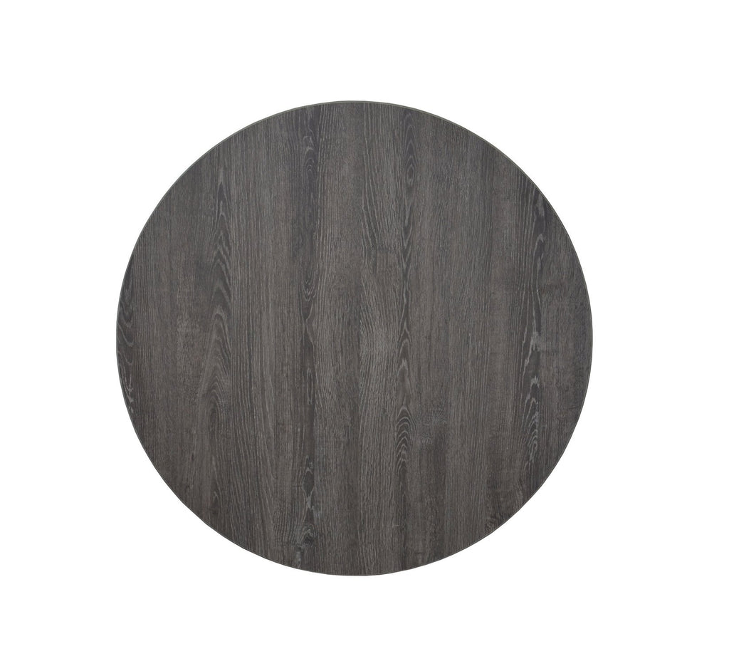 Gray Finish Oak Laminate Table Tops PVC Edge