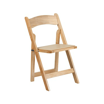 The Gabrielle Beech Wood Folding Chair Padded Seat