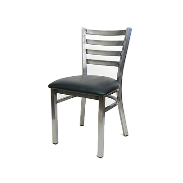 The Henry Medium Gun Metal Ladder Back Restaurant Chair