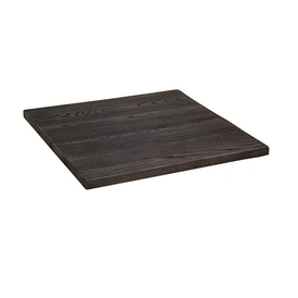 Tortilla Brown Wood Resin Restaurant Table Tops In-Outdoor