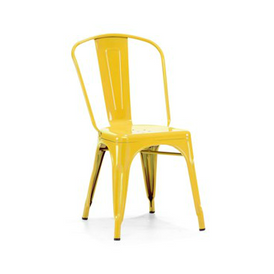 Yellow Galvanized Finish Tolix Chair