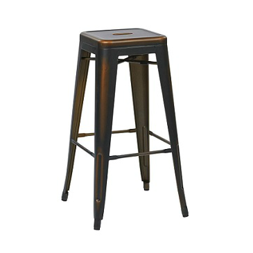 Vintage Dark Copper Tolix Bar Stool