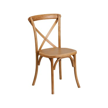 Vintage Natural Finish Cross Back Beech Wood Chair