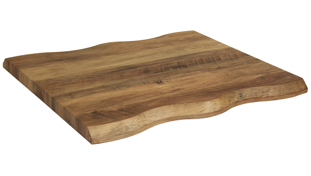 Wavy Live Edge Style Amber Resin Restaurant Table Top