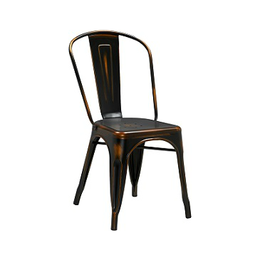 Dark Weathered Copper Finish Tolix Chair