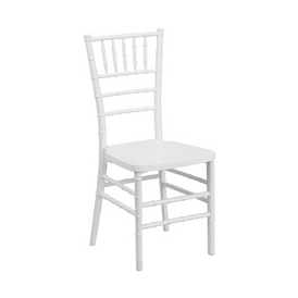 White Resin Chiavari Stacking Chair