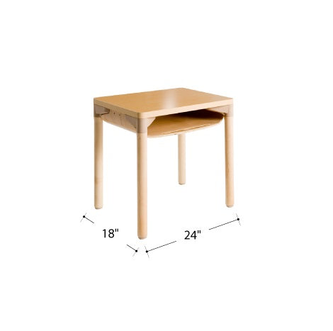 Willowbrook Adjustable School Desk Extra Storage Natural Wood Finish