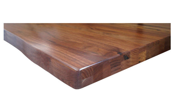Wisconsin Live Edge Black Walnut Restaurant Table Tops Custom Sizes