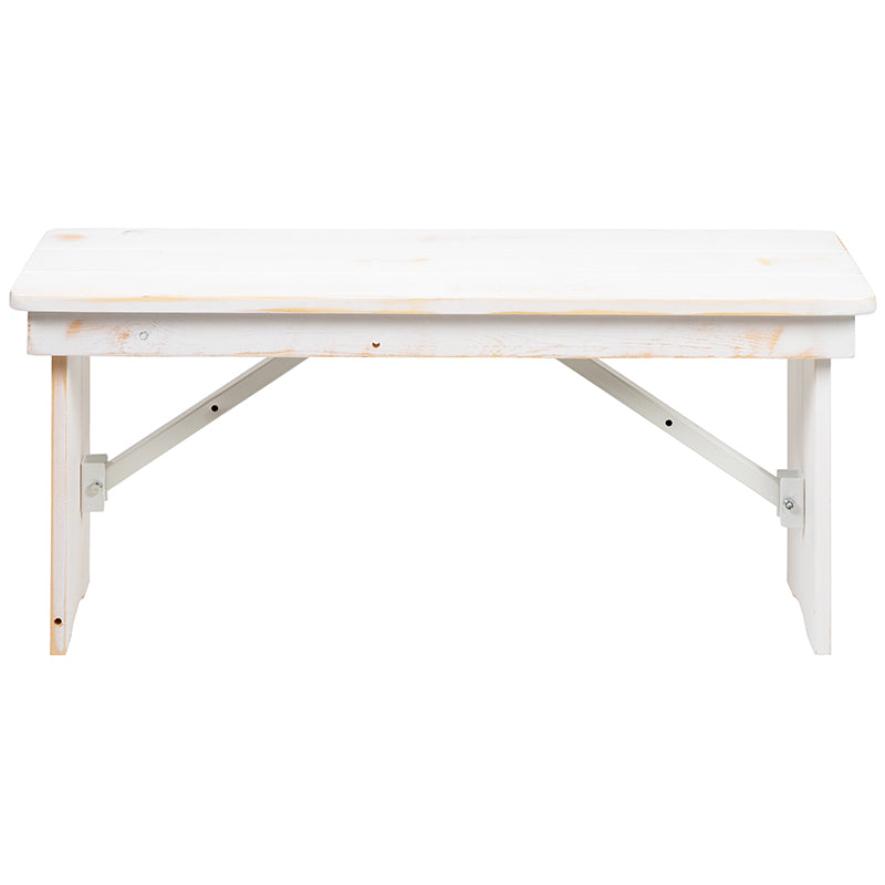 Worn White Heirloom Farmhouse Benches 2 Sizes