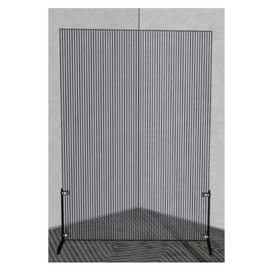 XLarge Fluted Social Distance Divider Semi Transparent Barrier