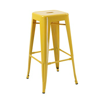 Yellow Finish Tolix Bar Stool
