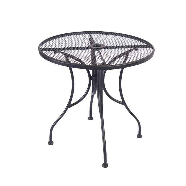 TBD Mesh Wrought Iron Outdoor Table Size
