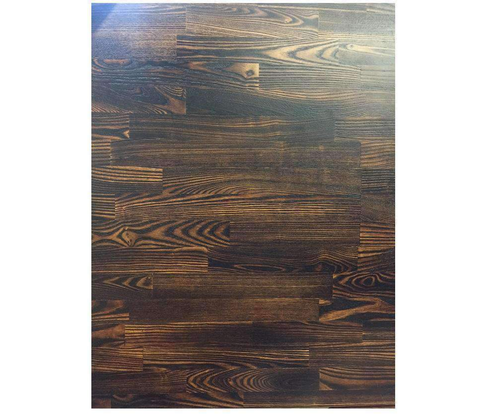 Medium Smoked Carbon Ash Wood Table Tops