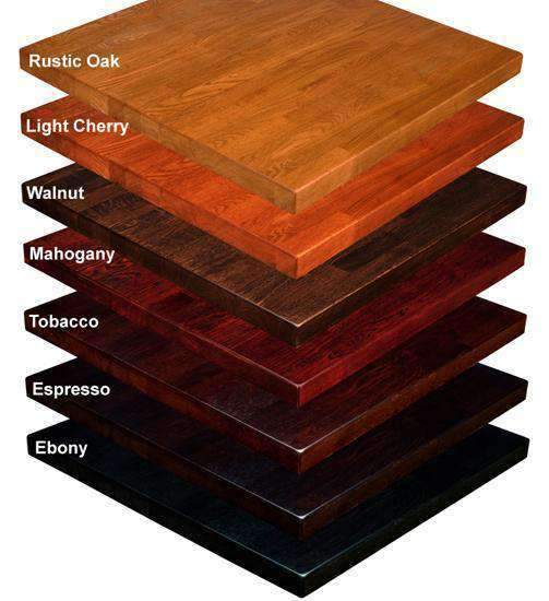 Ash Wood Butcher Block Table Tops 7 Colors