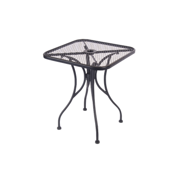 Mesh Wrought Iron Outdoor Table Size