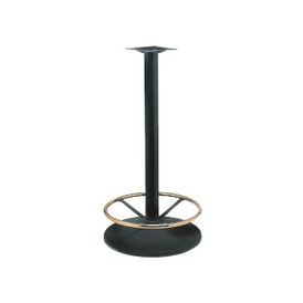 Black Bar Height Table Base Brass Foot Ring