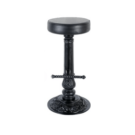 Black Ornate Swivel Barstool Base 15
