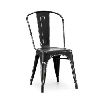Vintage Black Silver Tolix Chair