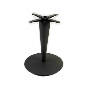 Black Tapered Column Round Table Base 28