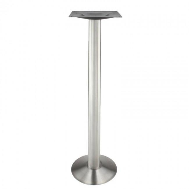 Brushed Steel Bolt Down Table Base