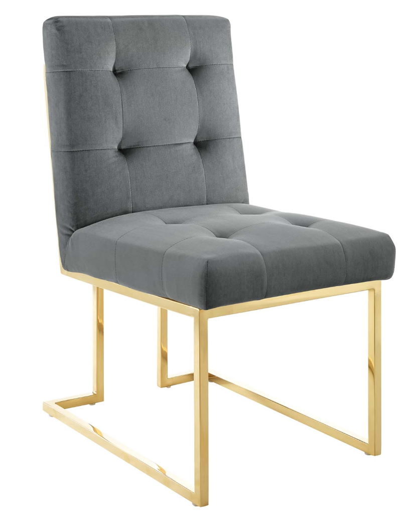 The Royal Glam Deco Upholstered Restaurant Dining Chair 4 Colors
