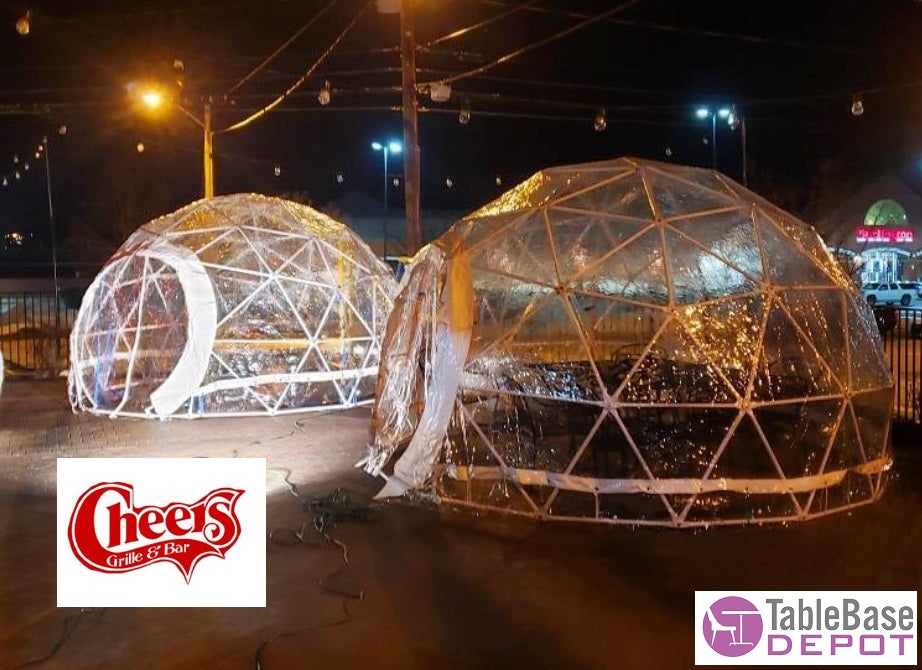 Safe Pod Steel Patio Igloo 6 Person 4M Geodesic Dome Tent Circular Zipper Entrance