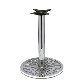 Chrome Leaf Table Base 24