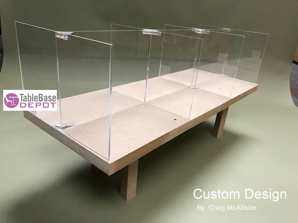 Custom Cafeteria Social Distance Barriers Any Size