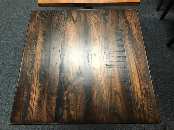 Reclaimed American Elm Wood Restaurant Table Tops