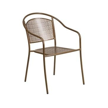 Belladona Outdoor Patio Arm Chair With Eased Hoop Back