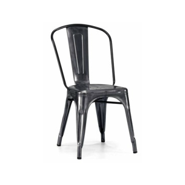 Dark Gun Metal Tolix Chair