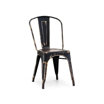 Black Gold Vintage Metal Tolix Chair