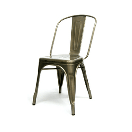 Tolix Industrial Chair Aged Pewter Finish