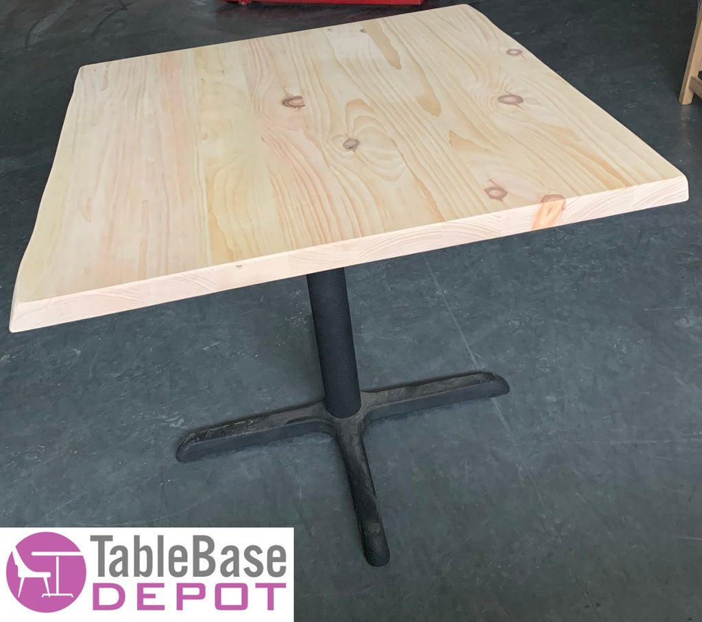 Custom Size Live Edge Eastern Pine Restaurant Tables 17 Stains
