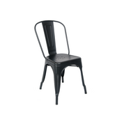 Matte Black Finish Tolix Chair