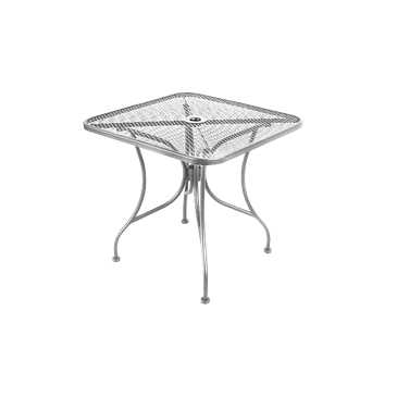 TBD Silver Mesh Wrought Iron Outdoor Table
