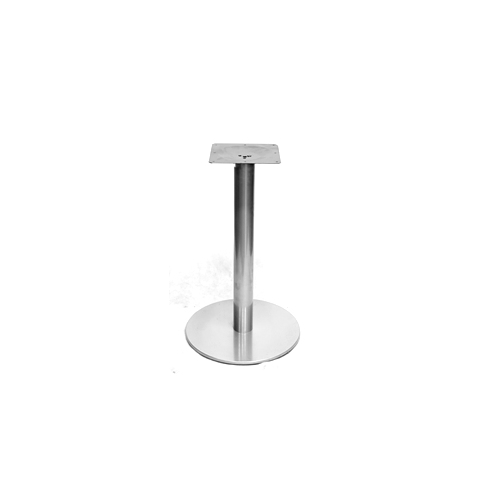 Round Outdoor Galvanized Silver Table Base