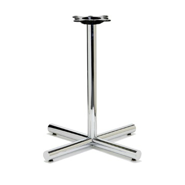 Chrome Retro Tube Table Base Flat End 22