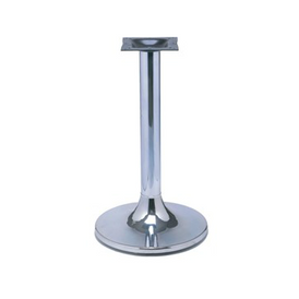 Chrome Retro Round Table Base 22