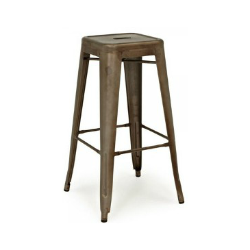 Rusted Finish Tolix Bar Stool