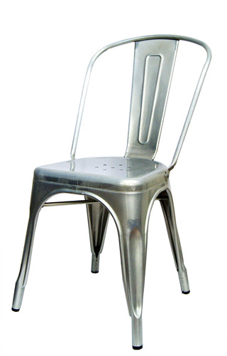 Galvanized Silver Tolix Chair For Outdoor