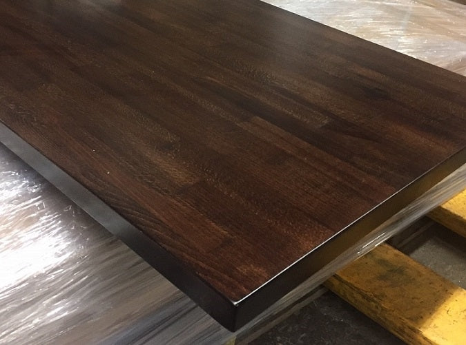 Pre Finished Solid Butcher Block Table Top Walnut Finish